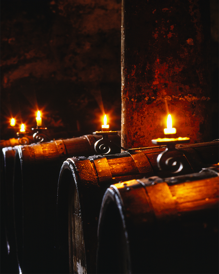 BARREL AND CANDLES