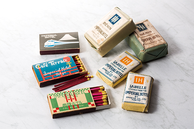 Matches and soaps from the 1923 Imperial Hotel.